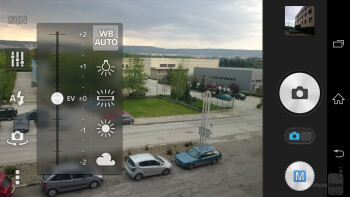 Camera UI of the Sony Xperia Z2 - Sony Xperia Z2 vs HTC One (M8)