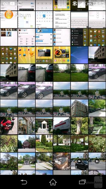 Album app - Sony Xperia Z2 vs Sony Xperia Z1