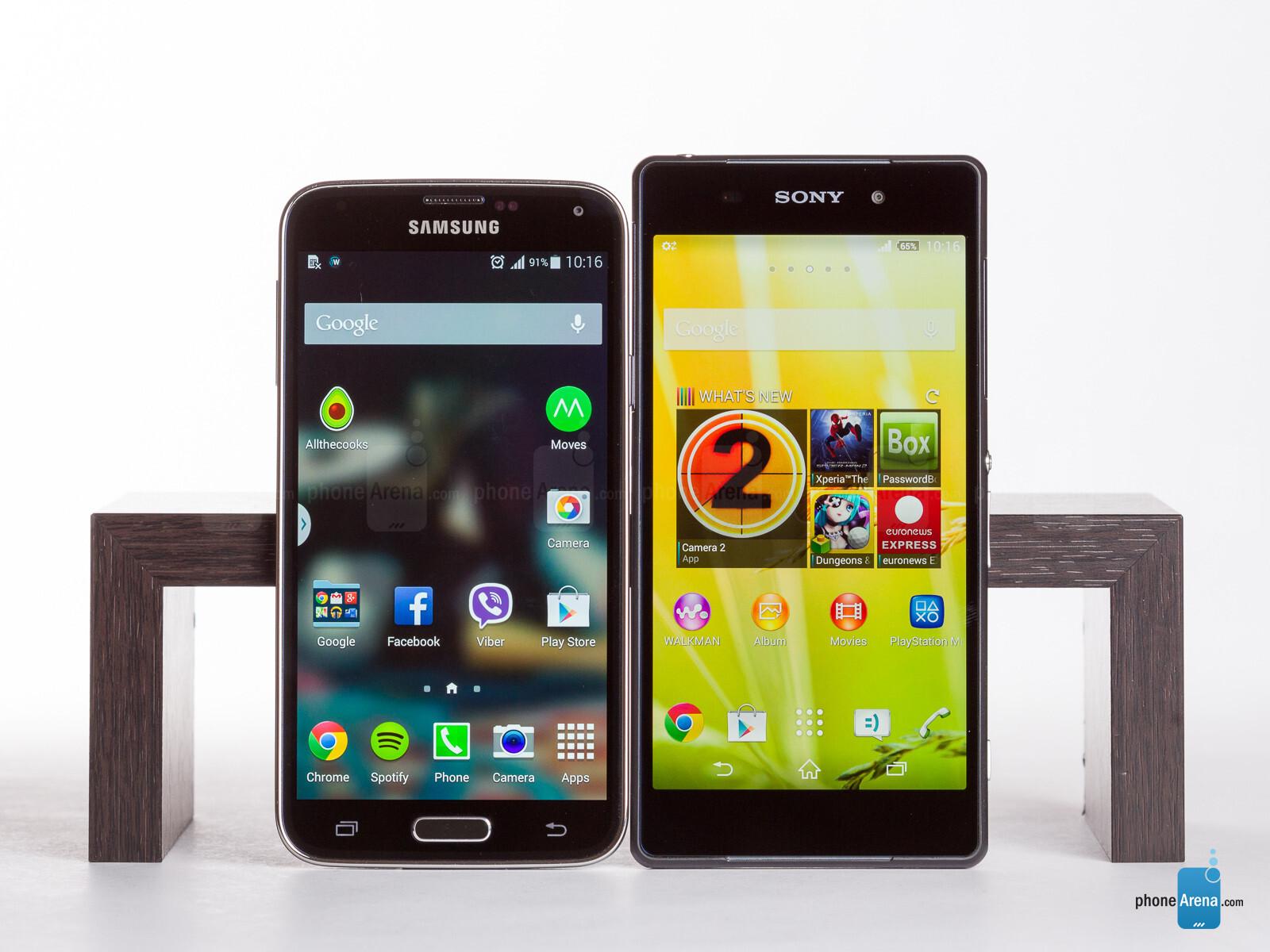 Sony Xperia Z2 vs Samsung Galaxy S5 - PhoneArena