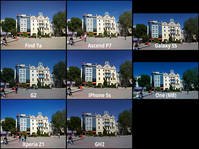 Camera comparison: Huawei Ascend P7 and Oppo Find 7a vs