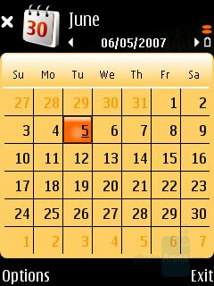 Calendar - Nokia N75 Review