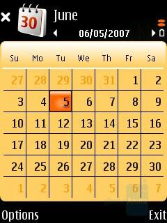 Calendar - Nokia N75 Review