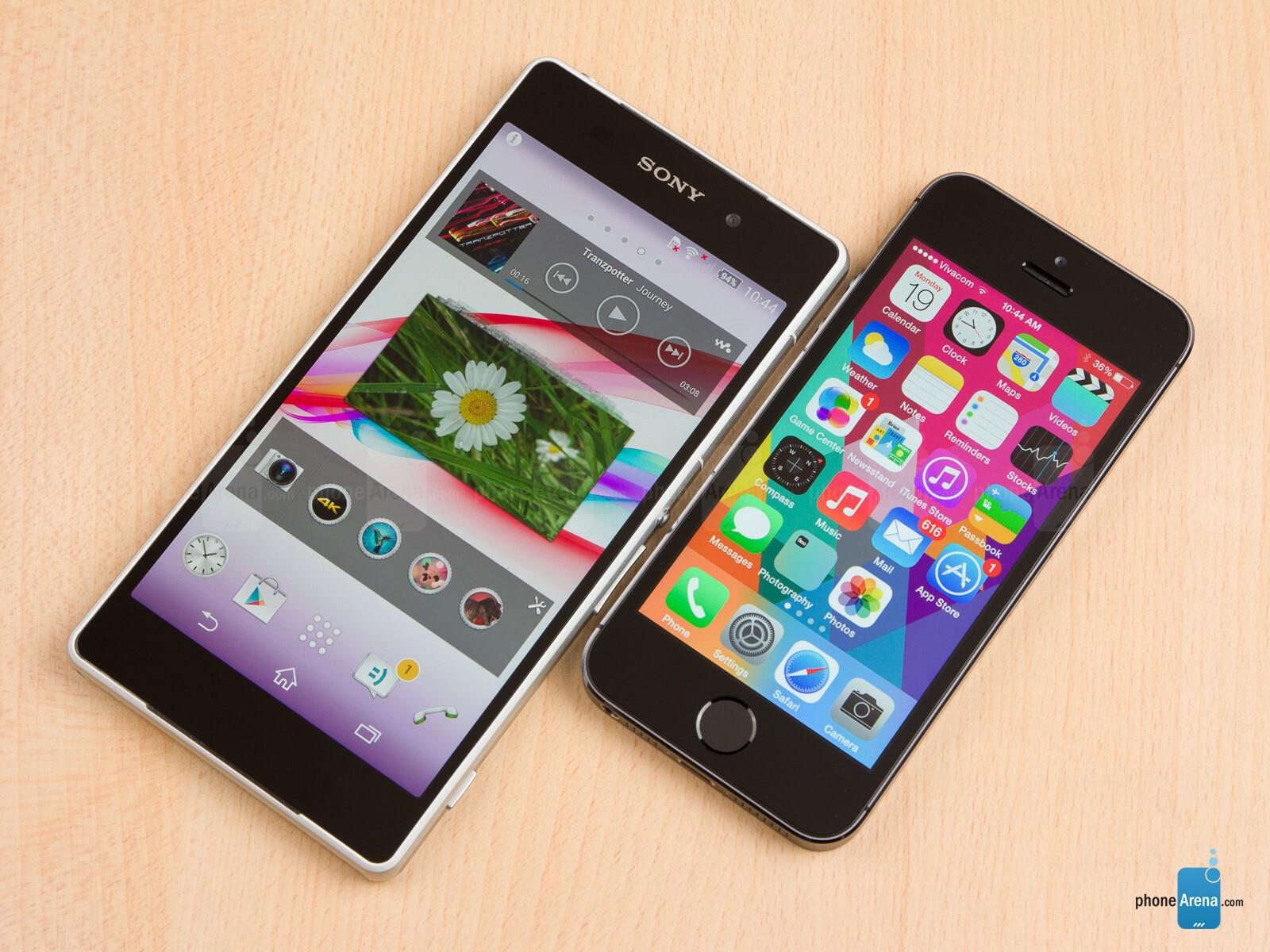 Sony Xperia Z2 vs Apple iPhone 5s 01