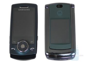 Left - SGH-U600, Right - RAZR2 V8 - Motorola RAZR2 V8 compared to Samsung SGH-U600 - Motorola RAZR2 V8 Preview