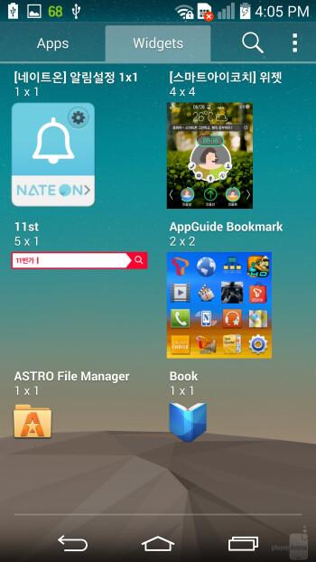 LG G3 interface - LG G3 vs HTC One (M8)