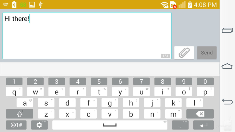 On-screen keyboards - LG G3 vs Samsung Galaxy S5