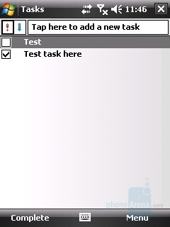 Tasks - HTC Touch Review