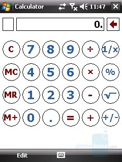 Calculator - HTC Touch Review