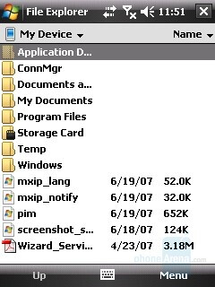 File Explorer - HTC Touch Review