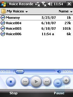 Voice recorder - HTC Touch Review
