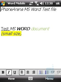 Word Mobile - HTC Touch Review