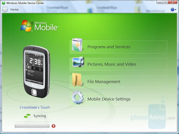 PC Synchronisation - HTC Touch Review