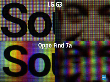 LG G3's 538 ppi compared to OPPO Find 7a's 5.5'' 403 ppi display - LG G3 Review