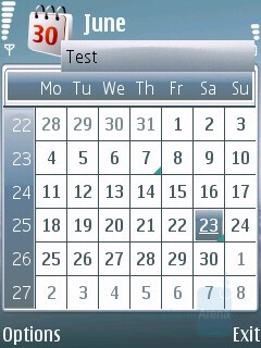 Month view - Calendar - Nokia 6120 Classic Review