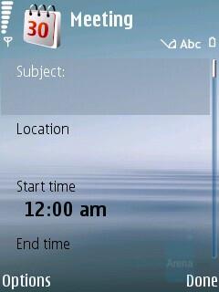 Calendar - Nokia 6120 Classic Review