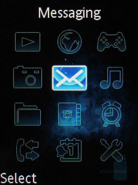 Main menu - Sony Ericsson S500 Preview