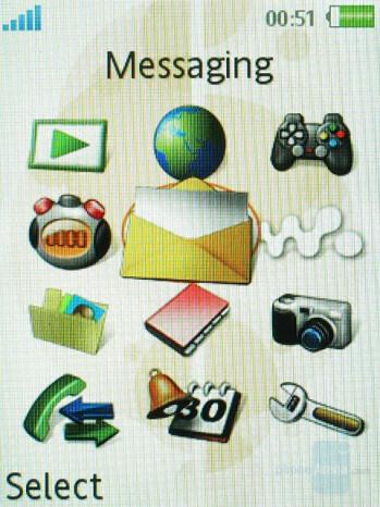 Main menu - Sony Ericsson W580 Preview