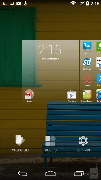 UI of the Motorola Moto X (2014) - Motorola Moto X 2014 vs Samsung Galaxy S5