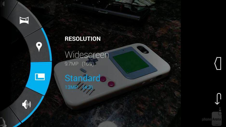 Camera interface of the Motorola Moto X (2014) - Motorola Moto X 2014 vs Moto X 2013