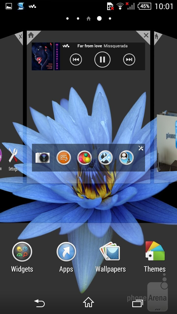 UI of the Sony Xperia Z3 Compact - Samsung Galaxy Alpha vs Sony Xperia Z3 Compact