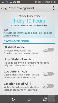 STAMINA and Ultra STAMINA modes