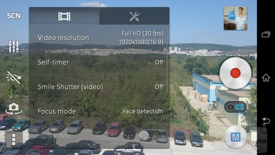 Camera interface of the Sony Xperia Z3 Compact - Samsung Galaxy Alpha vs Sony Xperia Z3 Compact