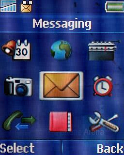 Main menu - Sony Ericsson T250 Preview