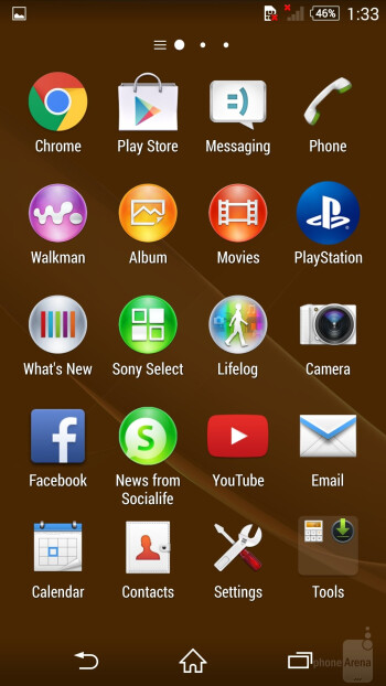 The interface of the Sony Xperia Z3 - Sony Xperia Z3 vs Samsung Galaxy S5