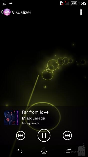 Music player of the Sony Xperia Z3 - Samsung Galaxy Note 4 vs Sony Xperia Z3