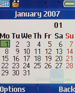 Calendar - Sony Ericsson T250 Preview