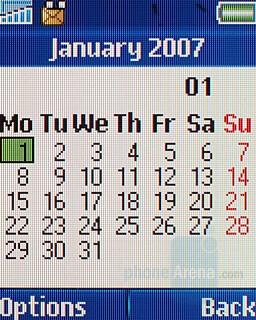 Calendar - Sony Ericsson T250 Preview
