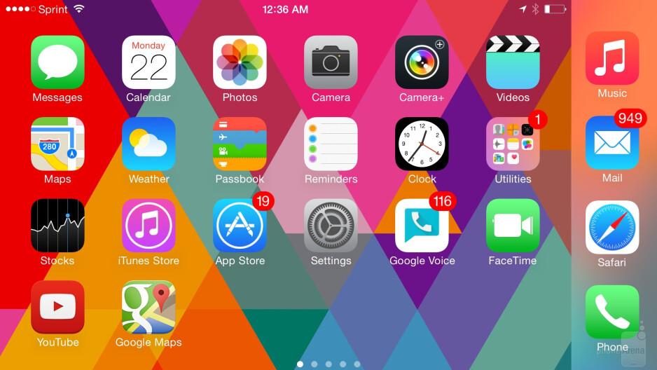 Apple iPhone 6 Plus user interface - HTC One M9 vs Apple iPhone 6 Plus