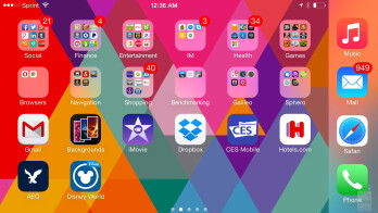 Apple iPhone 6 Plus user interface - LG G4 vs Apple iPhone 6 Plus