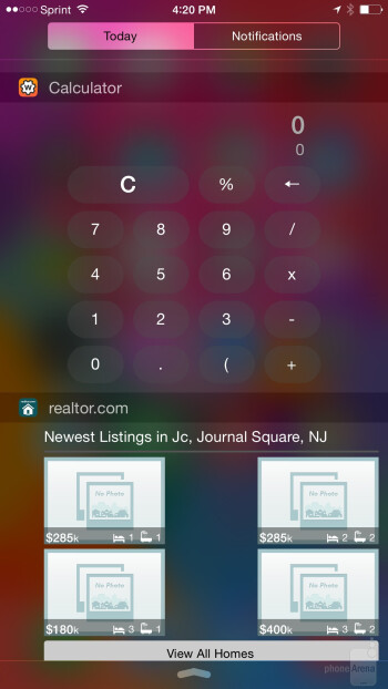 The UI of the Apple iPhone 6 Plus - Apple iPhone 6 Plus vs Samsung Galaxy Note 3