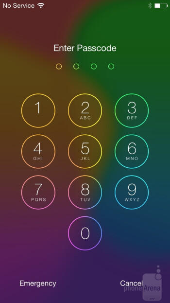 The iOS 8 UI of the Apple iPhone 6 - Apple iPhone 6 vs Samsung Galaxy S5