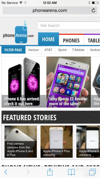 Browsing the web on the iPhone 6 - Apple iPhone 6 vs LG G3