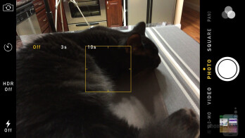 Camera interface of the Apple iPhone 6 - Apple iPhone 6 vs Samsung Galaxy S5