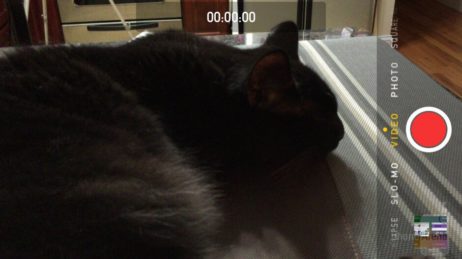 Camera interface of the Apple iPhone 6 - HTC One M9 vs Apple iPhone 6