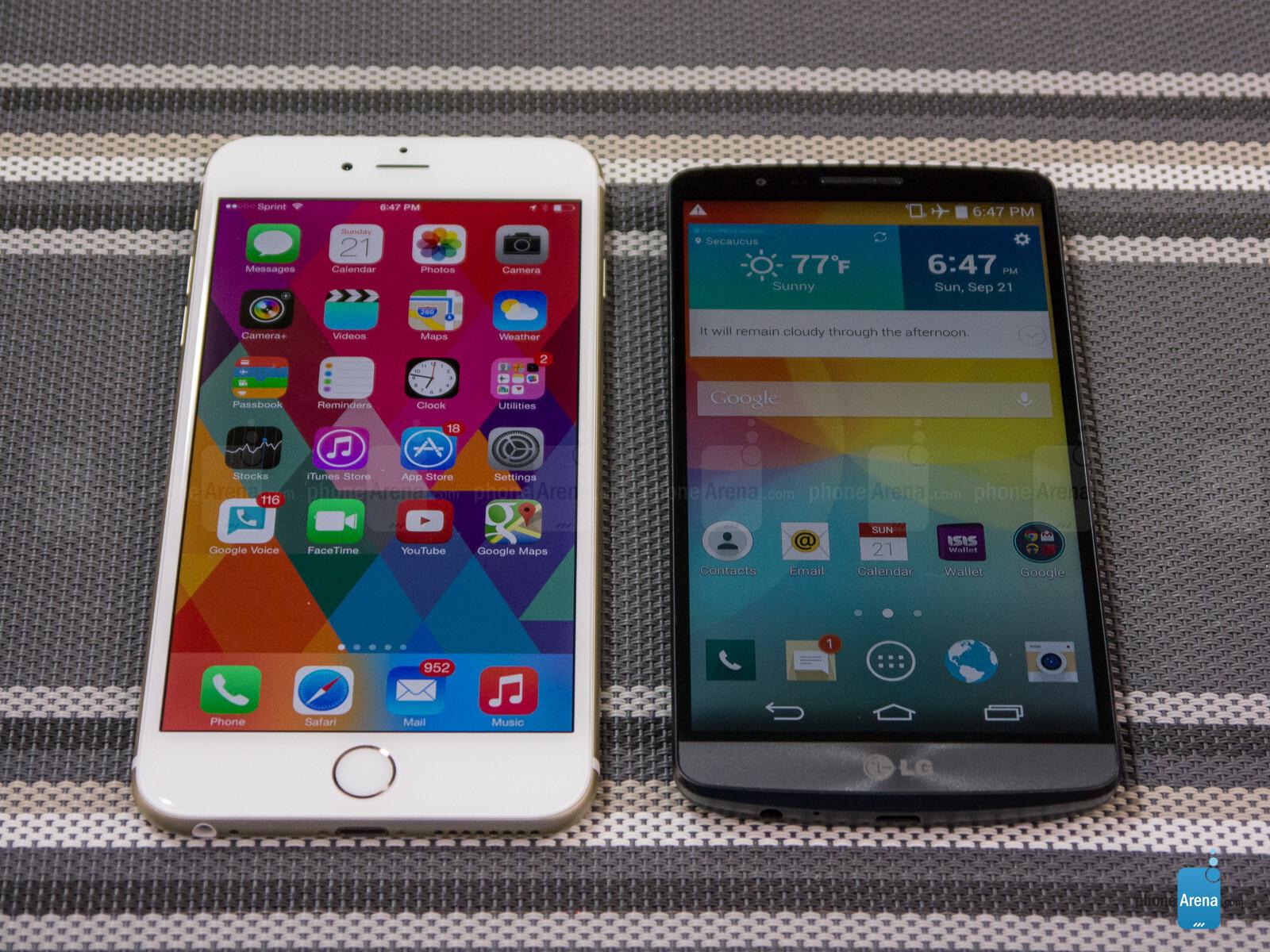 apple iphone 6 plus vs lg g3
