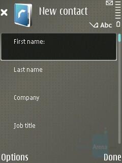Adding new contact - Nokia E65 Review