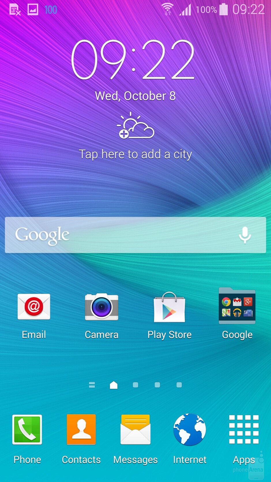 The UI of the Samsung Galaxy Note 4 - Samsung Galaxy Note 4 vs HTC One (M8)
