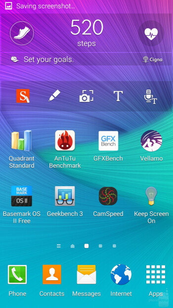 The UI of the Samsung Galaxy Note 4 - Motorola DROID Turbo vs Samsung Galaxy Note 4