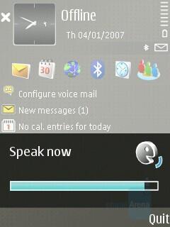 Voice control - Nokia E65 Review