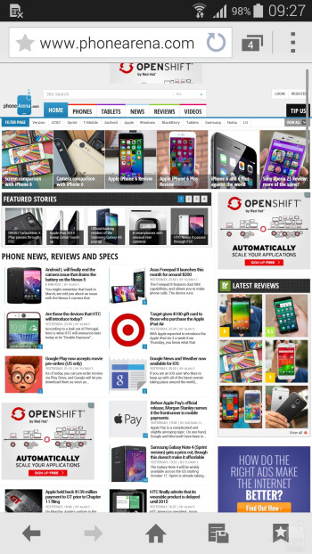 Samsung Galaxy S5 - Browsing the web - Samsung Galaxy Note Edge vs Samsung Galaxy S5