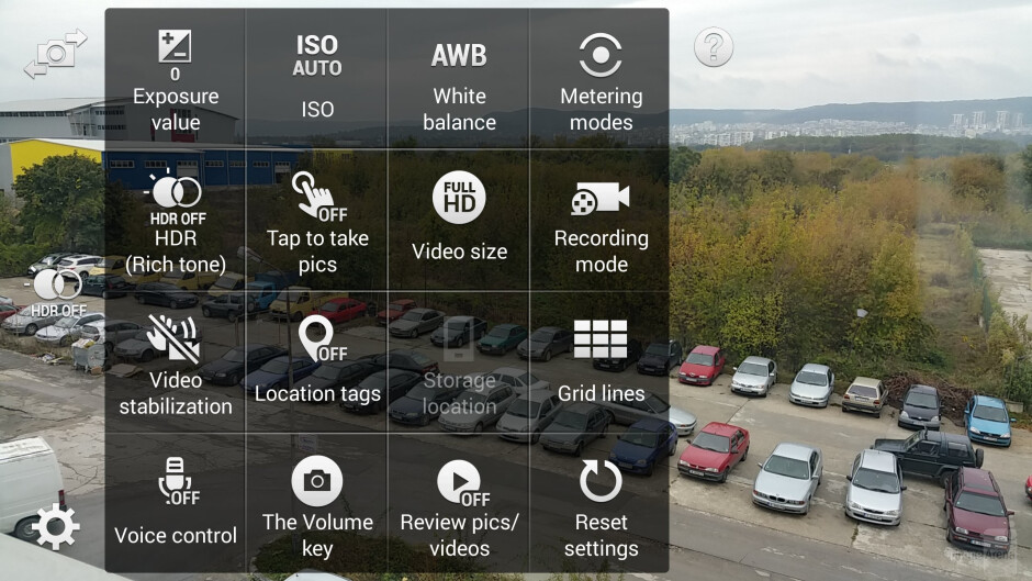 The camera interface of the Samsung Galaxy Note 4 - Samsung Galaxy Note 4 vs HTC One (M8)