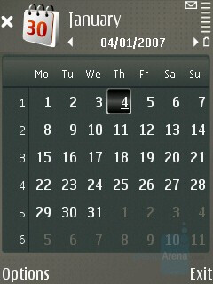 Calendar - Nokia E65 Review