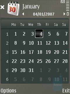 Calendar - Nokia E65 Review