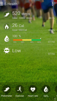 The new S Health app on the Note 4