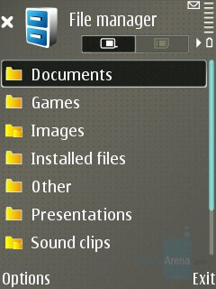 File manager - Nokia E65 Review
