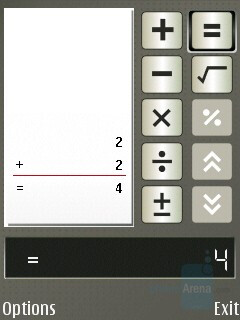 Calculator - Nokia E65 Review